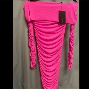 FashionNova Off Shoulder Midi Dress